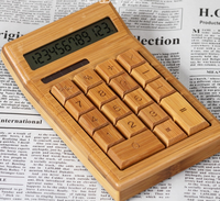 New bamboo calculator eco-friendly/better performance/wooden calculator manufacture