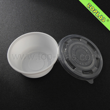 700ml Plastic Disposable Round Noodle Bowl With Lid