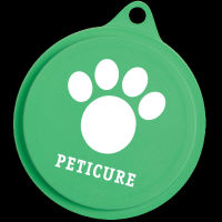 Made in the USA pet food lids. Features a convenient pull-tab for easy removal. Comes with your logo.
