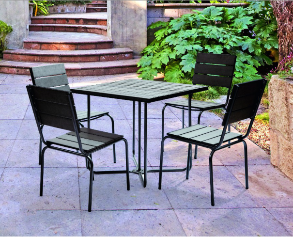 Cheap outdoor 4 chairs dinner set designs dining table chair for RH256