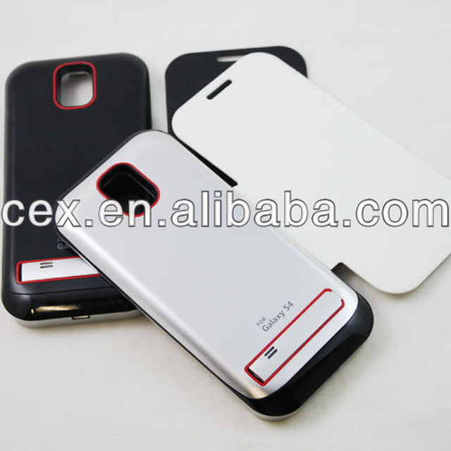 FLIP BATTERY LEATHER BACK CASE COVER FOR SAMSUNG GALAXY S4