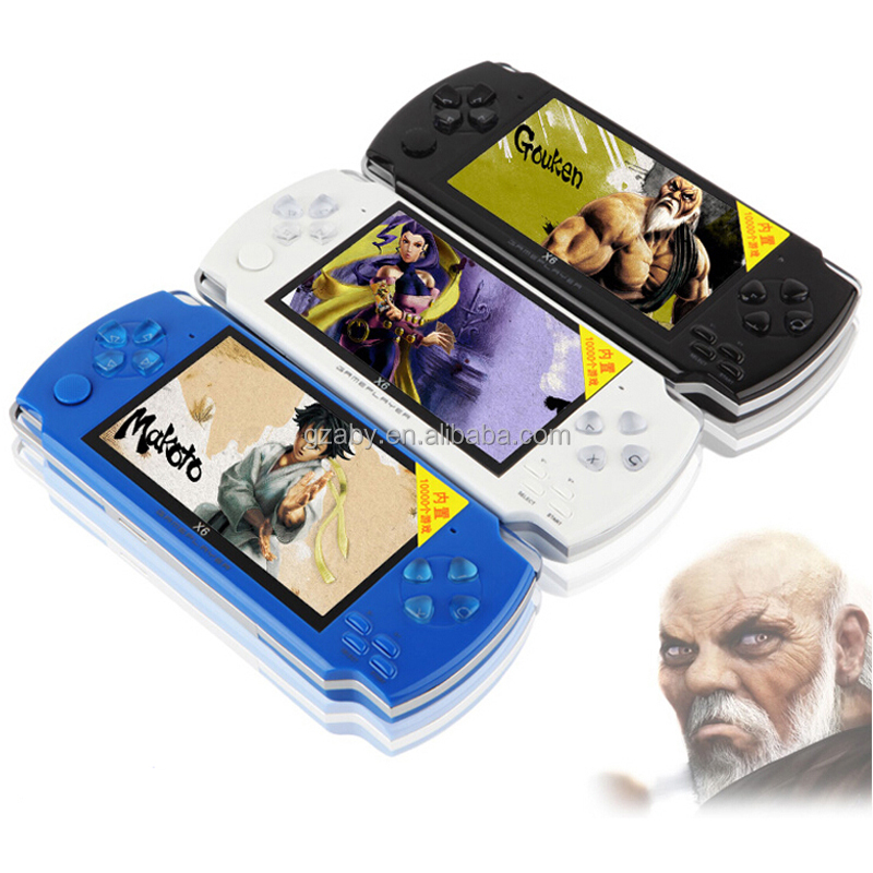 Hot sell 8GB Video Game Console 4.3 inch MP4 MP5 Players Handheld Game Player free games ebook