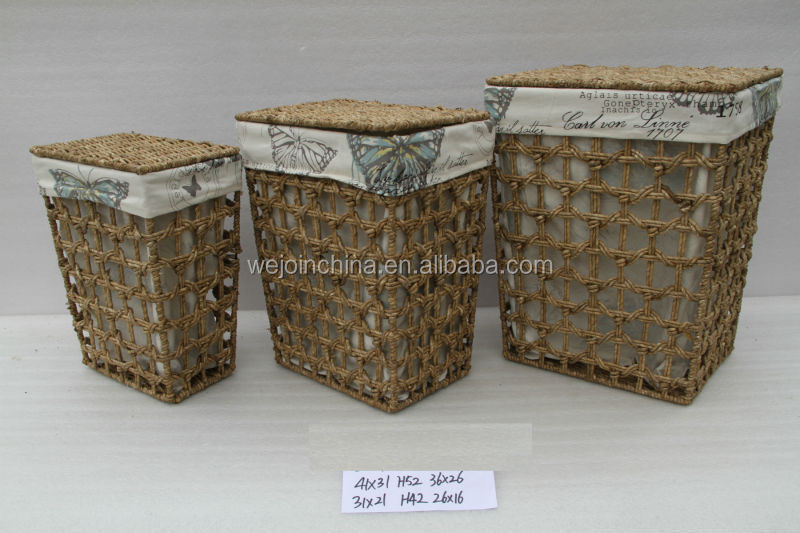 2016 Handmade Large Wicker Storage Basket with Lids
