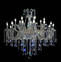 18 lights silver candelabra elegant lighting with crystals