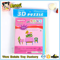 Children toys superior quality building 3d paper model puzzle for sale