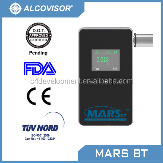 Alcovisor Mars BT | Breath Alcohol Tester | Bluetooth Breathalyser