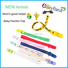 2017 Baby Pacifier Clip Chain Ribbon Dummy Holder Soother Pacifier Clips