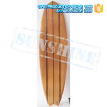 Wood Veneer Epoxy Surfboards Made in China Wooden Fish Tail Surf Board