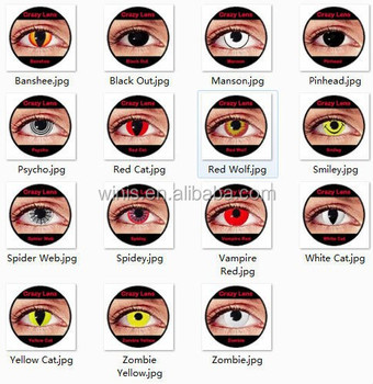 halloween cosplay lens anime cosplay contact lenses