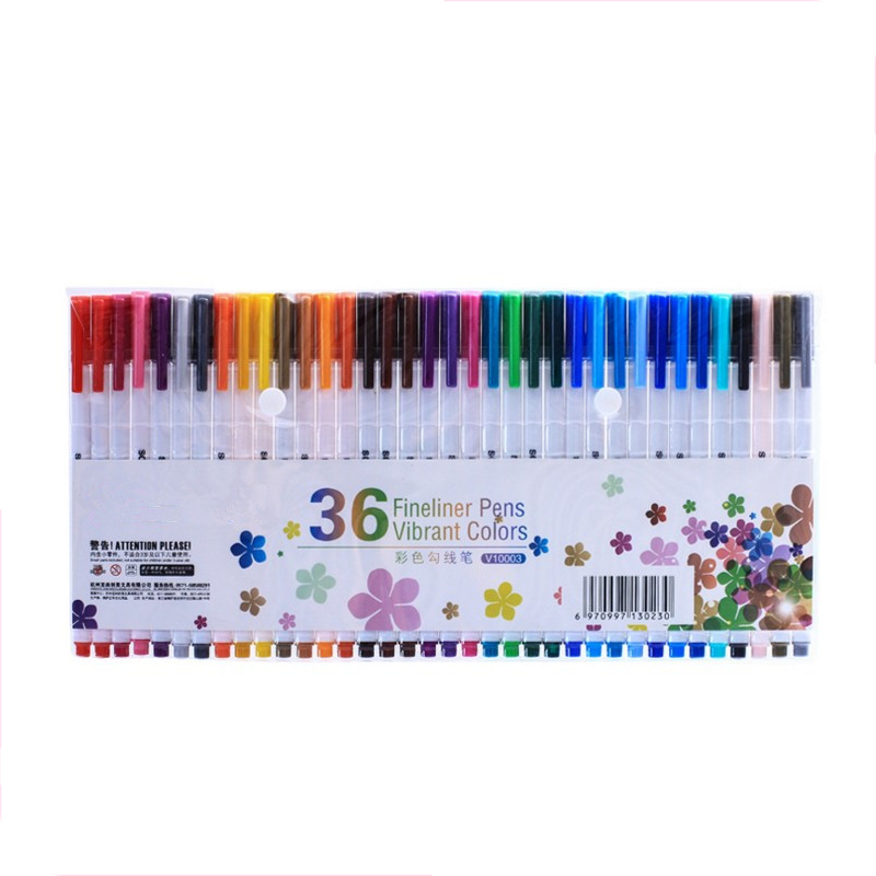 Amazon Hot products 24colors dual tip brush pen with fineliner tip