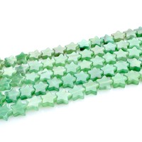 Hot new products for 2015 natural Green Aventurine gemstone 12*12mm Strar Shape Loose Green Aventurine