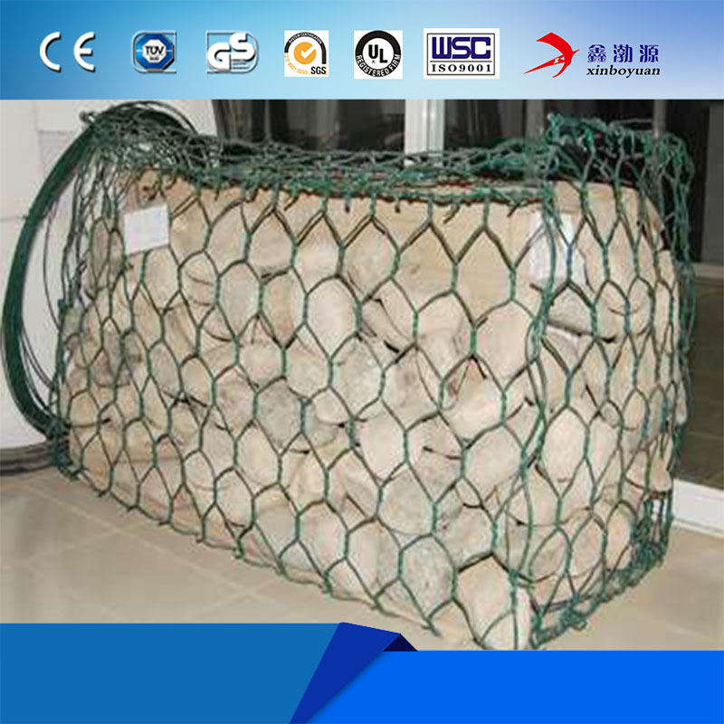 3*1*1m PVC coated galvanized hexagonal woven double twist wire mesh gabion box