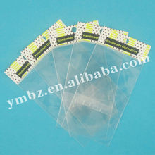 Cheap small printing plastic opp resealable adhesive bags