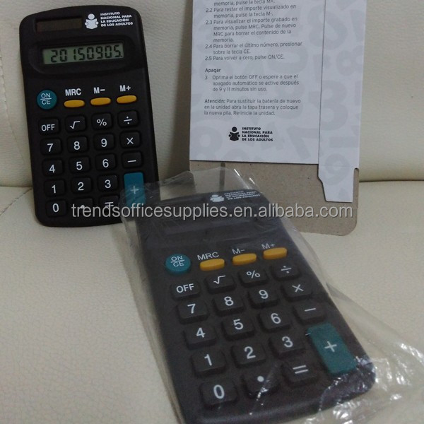 Constant ordered small size pill pocket calculator/novelty cheap mini calculator