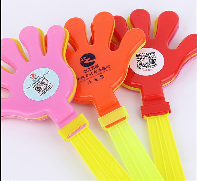 fashion customized clap hand cheap toy plastic hand clapper as promotion gift
