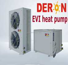 Split type EVI heat pump air to water, house heating/ Cooling , High COP for cold area -25 degree
