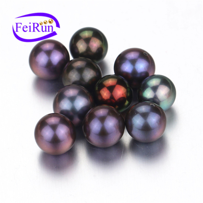 8.5-9mm AAA grade peacock black round best quality natural fresh water loose pearl