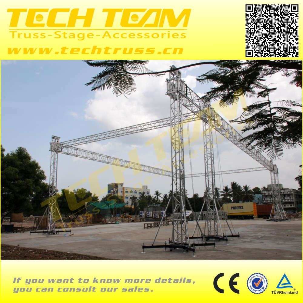 Heavy Duty Spigot Aluminum Event Truss Trade Show Exhibit Truss