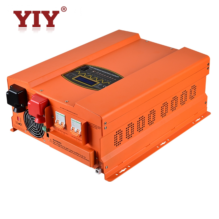10kw 24vDc to 220vAc Off-grid single phase solar inverter with charger