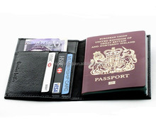 hotsale christmas rfid blocking leather travel passport cover, passport wallet card holders