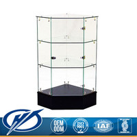 Hot products to sell online as Best Quality corner Glass display case of Cabinet showcase