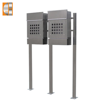 304 stainless steel free standing mailbox letterbox
