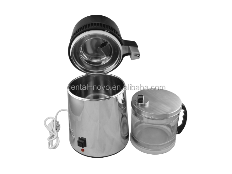 New Stainless Steel Water Distiller machine with Glass Bottle Home Use SM-005