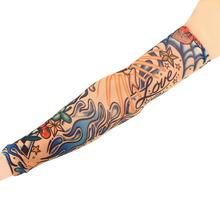 1pc Fake Tattoo Elastic Arm Sleeve Arm Stockings Sport Skins Sun Protective For Cool Men Women Hot Selling Style Random 0008