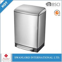 Factory direct square design metal dusty waste bin for hotel room