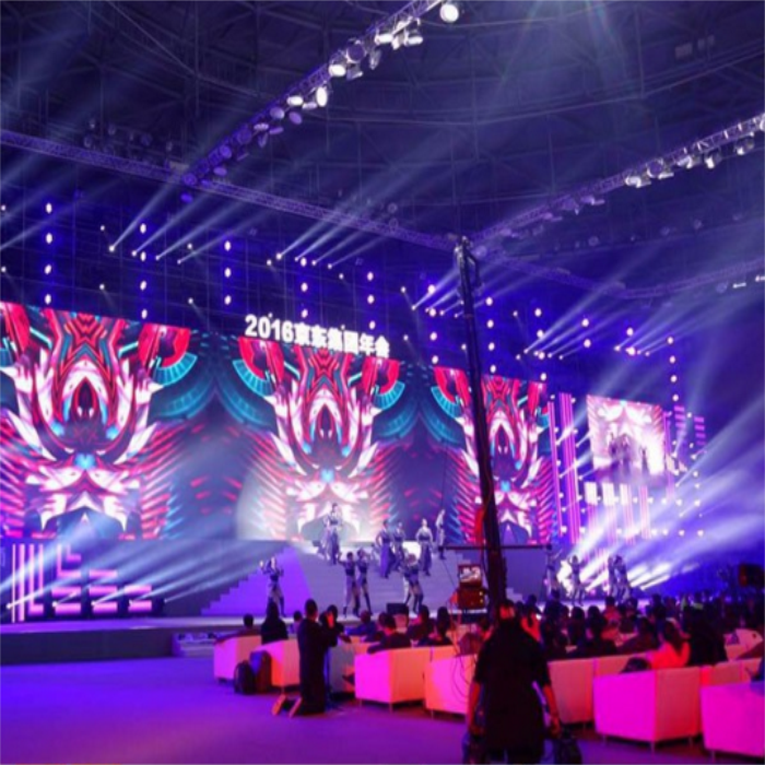 Shenzhen high resolution indoor large P3 led display rental screen
