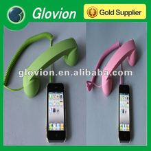 Hot sale pop phone handset holder pop color retro mobile phone handset smart phone handset