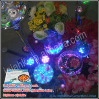 JEJAHK decorations multi color led light base for glass/ crystal