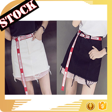 L730 STOCK FASHION WHOLESALE NEW STYLE HAN KOREAN SLIM HIGHWAIST SHORT SKIRT A-LINE GIRL DENIM SKIRT
