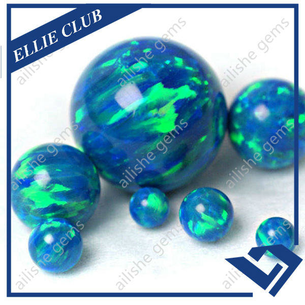 different size 4-12mm green fire lab opal beads