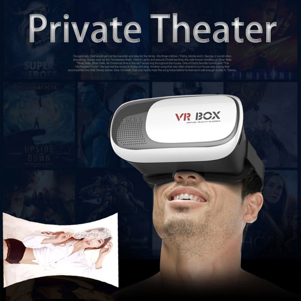 3D VR Virtual Reality glasses Case Experience Mobile Phone Lifelike 3D Movies for iPhone 6s/ all smartphones