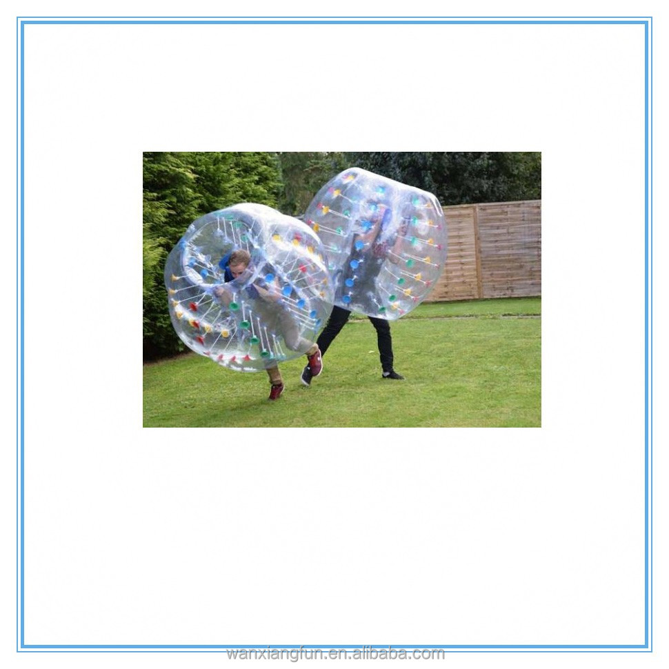 Giant inflatable human size bubble ball high quality bumper knocker ball for adult