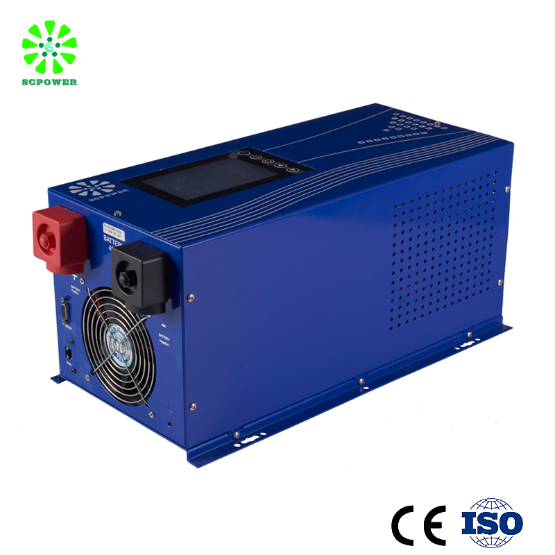 Hybrid solar power inverter 10kw single phase solar Grid tied inverter with battery bank up