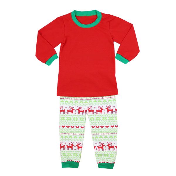Kaiyo wholesale boutique clothes boy girls long sleeve kids Christmas pajamas