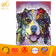 Diamond Mosaic DIY 5D Round Diamond Painting Stitch Embroidery Pattern Rhinestone Art Colorful Dog for Home Decorartion