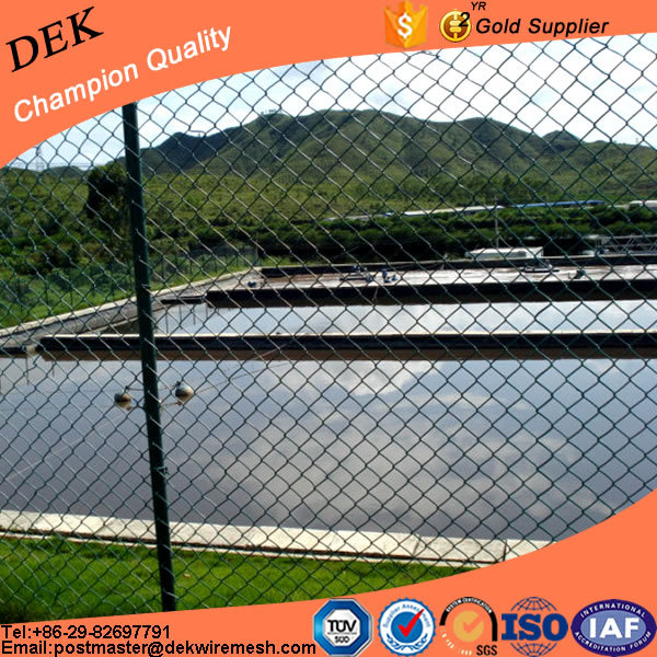 Industrial agriculture ground chain link fence panel in 6 gauge