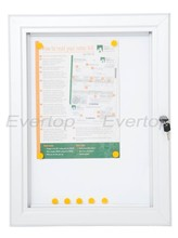 Magnetic back lockable notice boards,Dry Wipe Back