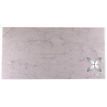 Best offer Polished bianco carrara cut-to-size format filed marble tile