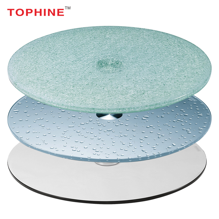 TOPHINE Furniture Restaurant Tempered Glass Table Top, Dining Table Top Glass