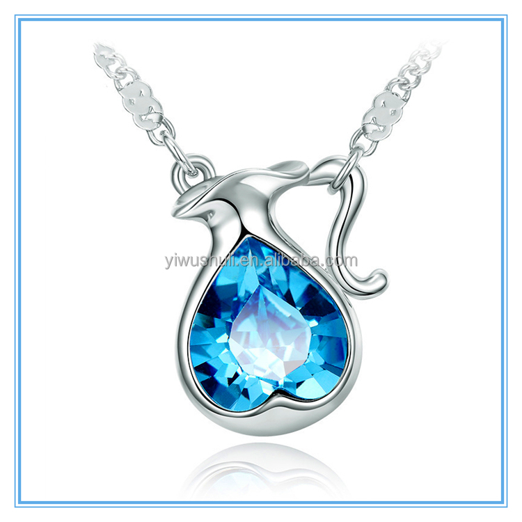 Necklace Pendant short ladies high-end crystal twelve zodiac jewelry geometric shaped alloy Necklace