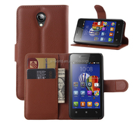 Factory Price High Quality Flip Leather Case PU Leather Wallet Phone Case for Lenova A319