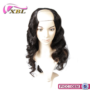 Cheap Fashion Source 100% Remy Hair Peruvian Hair U Part Wig