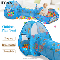 Newest factory wholesale funny kids pop up ocean ball pool children play tent and tunnels