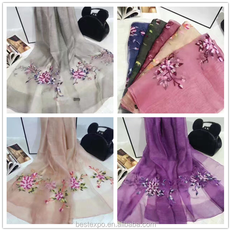 wholesale 100% silk and hand embroidery spanish flamenco manton scarf pashmina shawl