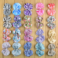 artificial animal printed satin zebra ribbon bow flower black and white hair bow accessories