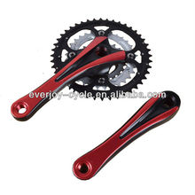 MTB chainwheel and cranks/ anodized color crank/light alloy chainwheel and cranks